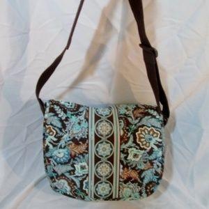 VERA BRADLEY messenger flap bag crossbody bag